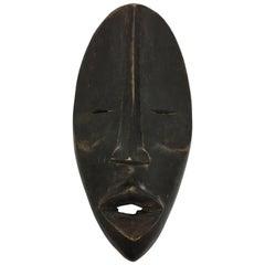 Decorative African Folk Art Mid-Century Modern Tribal Hanging Mask Sculpture