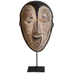 Decorative African Folk Art Midcentury Tribal Wood Mask