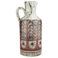Decorative and Rustic Pitcher, Gustave Reynaud, 1950s