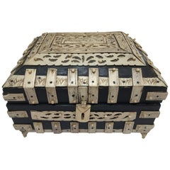 Decorative Anglo-Indian Vizagapatam Footed Box