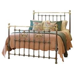 Decorative Antique Bed in Blue Verdigris MK234