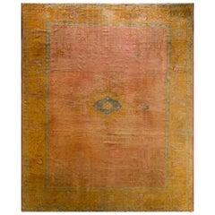 Decorative Antique Oushak Carpet