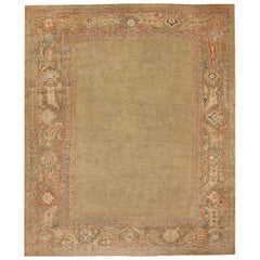 Decorative Antique Persian Sultanabad Rug. Size: 13 ft 8 in x 16 ft 2 in