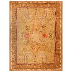 Decorative Antique Turkish Oushak Rug. Size: 10 ft x 13 ft 6 in