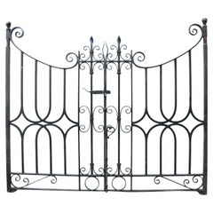 Decorative Antique Wrought Iron Gates with Posts