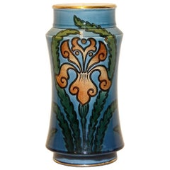 Decorative Art Nouveau Ceramic Vase, Vessel by Villeroy & Boch, Mettlach