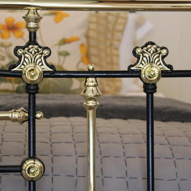 European Decorative Black Antique Bed MK200 For Sale