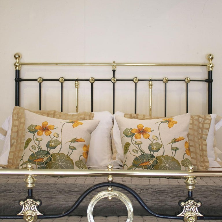 Decorative Black Antique Bed MK200 In Good Condition For Sale In Wrexham, GB