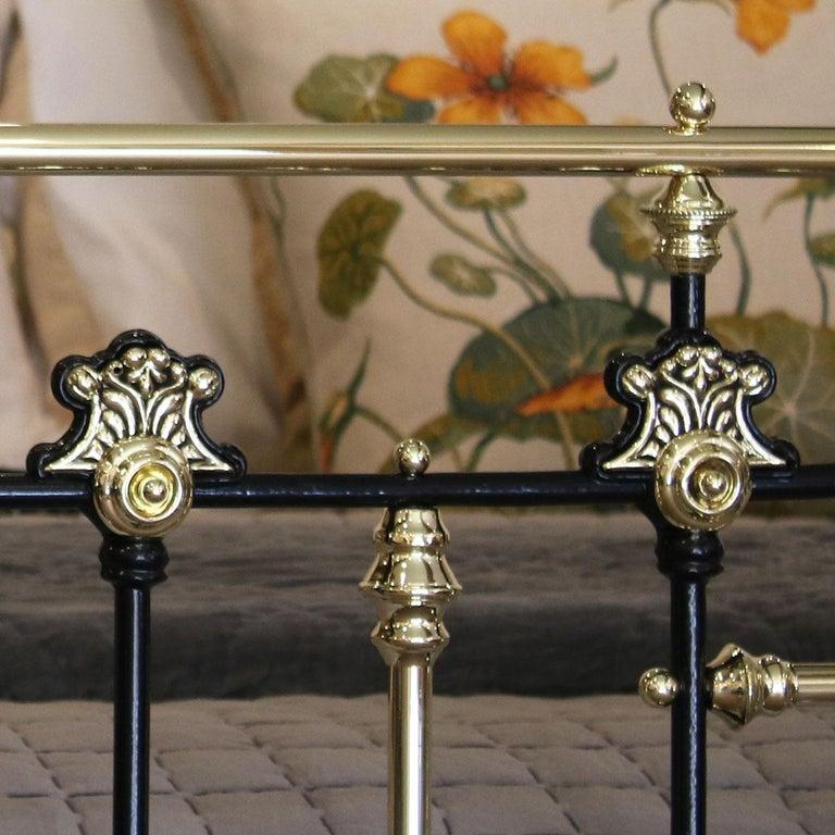 Brass Decorative Black Antique Bed MK200 For Sale