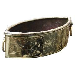 Decorative Bowl in the Shape of an Eye in Brass 1970 Italian Design
