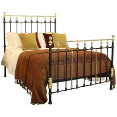 Decorative Brass and Iron Bed in Black, MK164