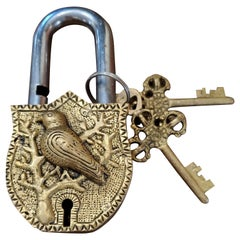 Decorative Brass Bird India Padlock
