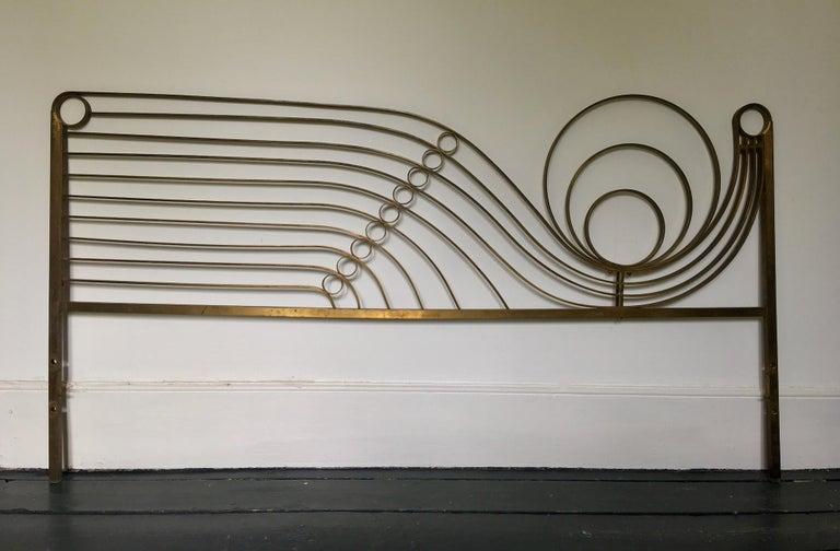 Decorative Brass Headboard, Mid-20th Century, Italian Modern For Sale 8