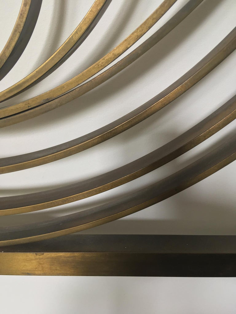 Decorative Brass Headboard, Mid-20th Century, Italian Modern For Sale 2