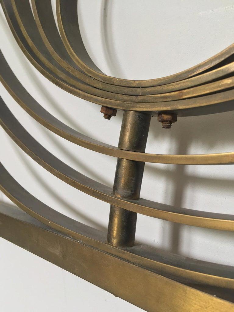 Decorative Brass Headboard, Mid-20th Century, Italian Modern For Sale 3