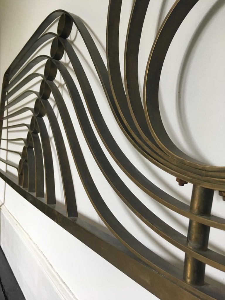 Decorative Brass Headboard, Mid-20th Century, Italian Modern For Sale 4