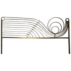 Decorative Brass Headboard, Mid-20th Century Italian Modern