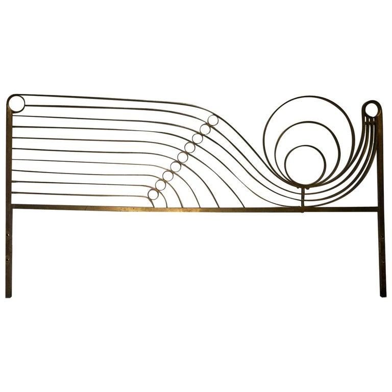 Decorative Brass Headboard, Mid-20th Century, Italian Modern For Sale