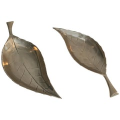 Decorative Brass Leaves, French