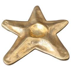 Decorative Brass Trivet in Starfish Motif by David Marshall 'circa 1990s'