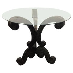 Decorative Brushed Steel Center Table