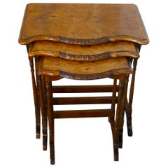 Decorative Burr Walnut Nest of Tables
