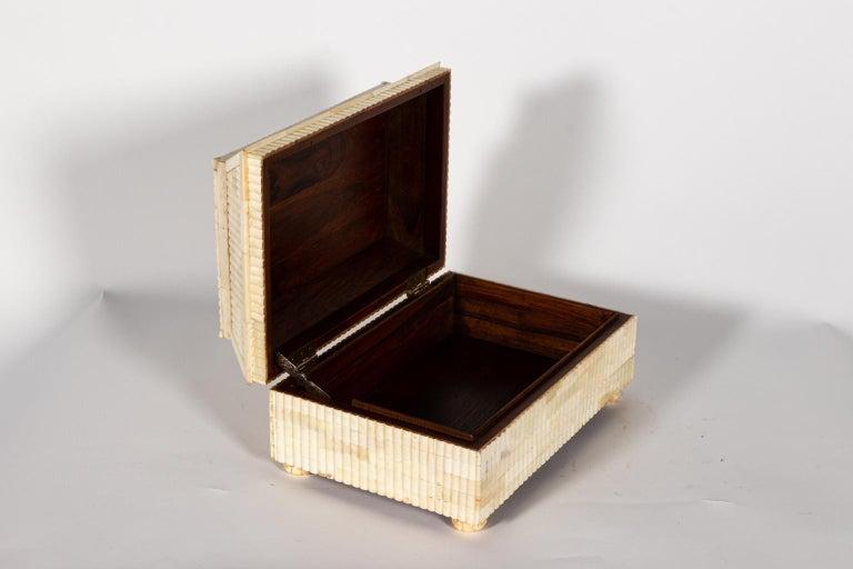 Decorative Carved Bone Box For Sale 2