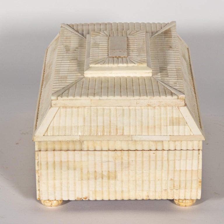 Decorative Carved Bone Box For Sale 3