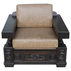Decorative Carved Lounge Chair