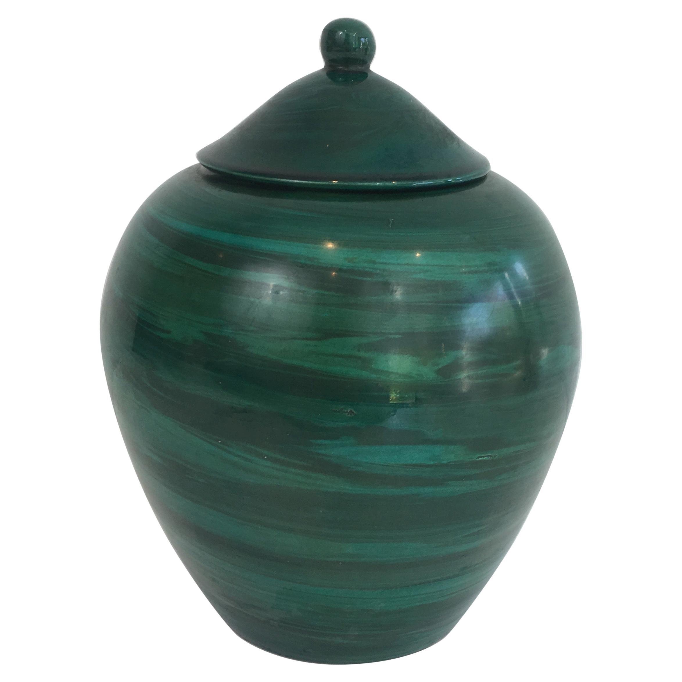 Decorative Ceramic Covered Pot, French, circa 1950