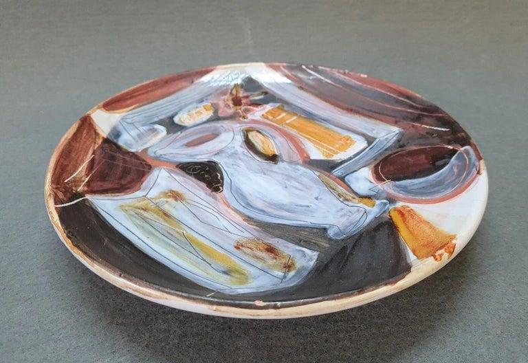 Mid-Century Modern Decorative Ceramic Dish Jacques Innocenti, 1950s For Sale
