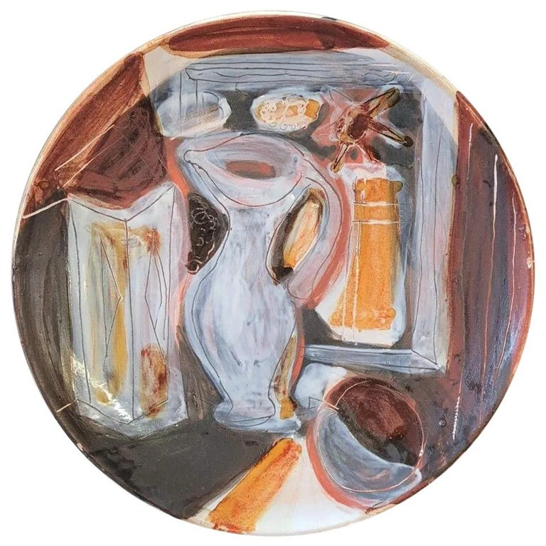 Decorative Ceramic Dish Jacques Innocenti, 1950s For Sale