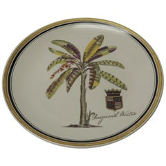 Palm Decorative Ceramic Plate by Raymond Waites