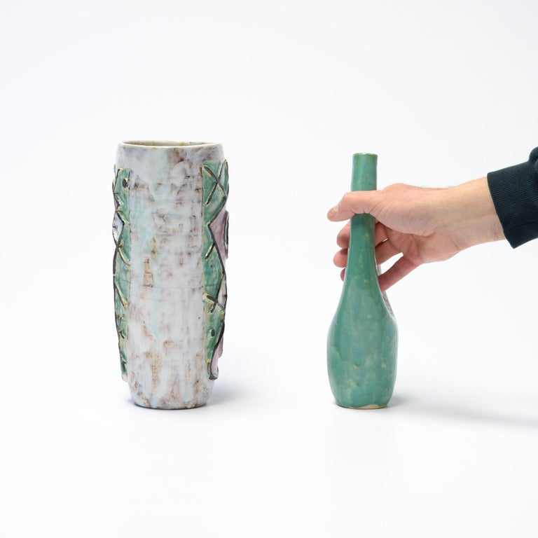 French Decorative Ceramic Vases of the 1950s For Sale