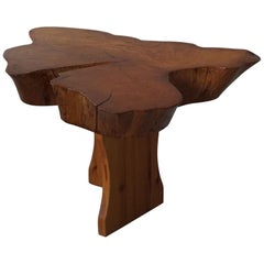 Decorative Coffee Table in Burl Wood, in the Style of George Nakashima, 1960s