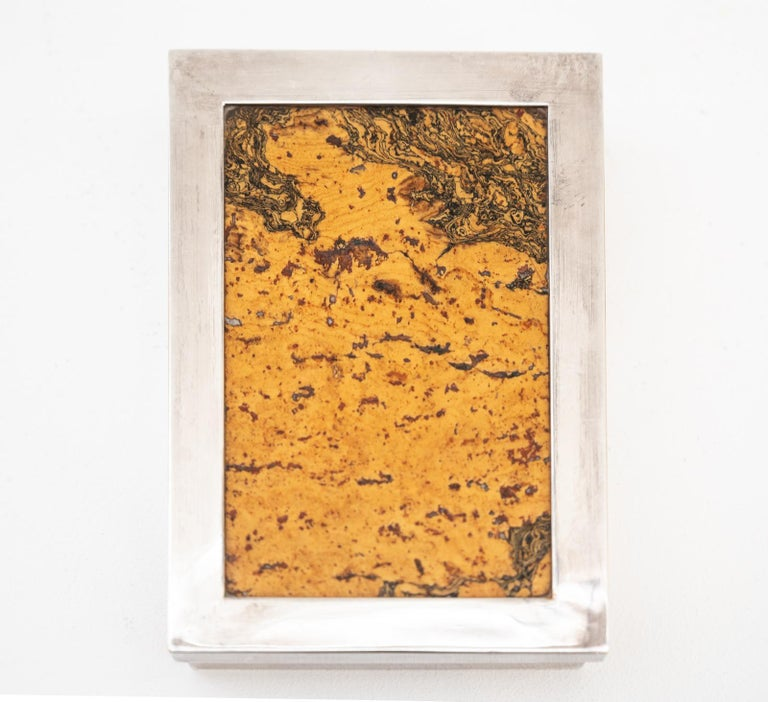 Mid-Century Modern Decorative Cork Lined Box by R Debladis Paris For Sale