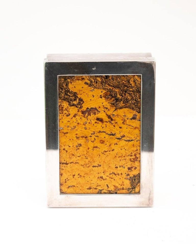 Mid-20th Century Decorative Cork Lined Box by R Debladis Paris For Sale