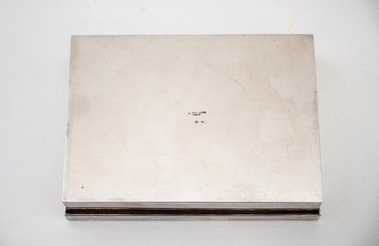 Silver Plate Decorative Cork Lined Box by R Debladis Paris For Sale