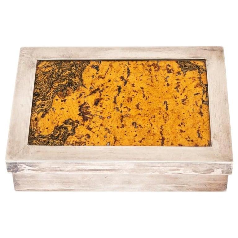 Decorative Cork Lined Box by R Debladis Paris For Sale