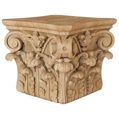 Decorative Custom Made Carved Capital for Walls, Cabinets, Furniture