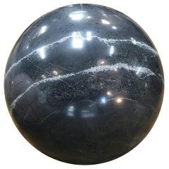Decorative Dark Grey Marble Sphere, Italy