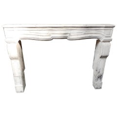 Decorative Fireplace Mantel in the Style of Louis XV