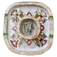 Decorative French Ceramic Ash Tray / Vide Poche by Fernande Kohler 'circa 1960s'