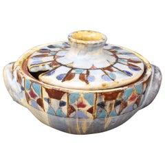 Decorative French Ceramic Sugar Bowl by Fernande Kohler, 'circa 1960s'