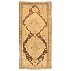 Decorative Gallery Size Tribal Antique Karabagh Rug. Size: 4 ft 7 in x 9 ft 7 in