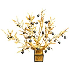 Decorative Gilded Bonzai Olive Tree Small