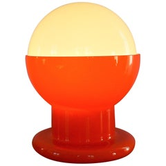 Decorative Glass Table Lamp in Orange and White
