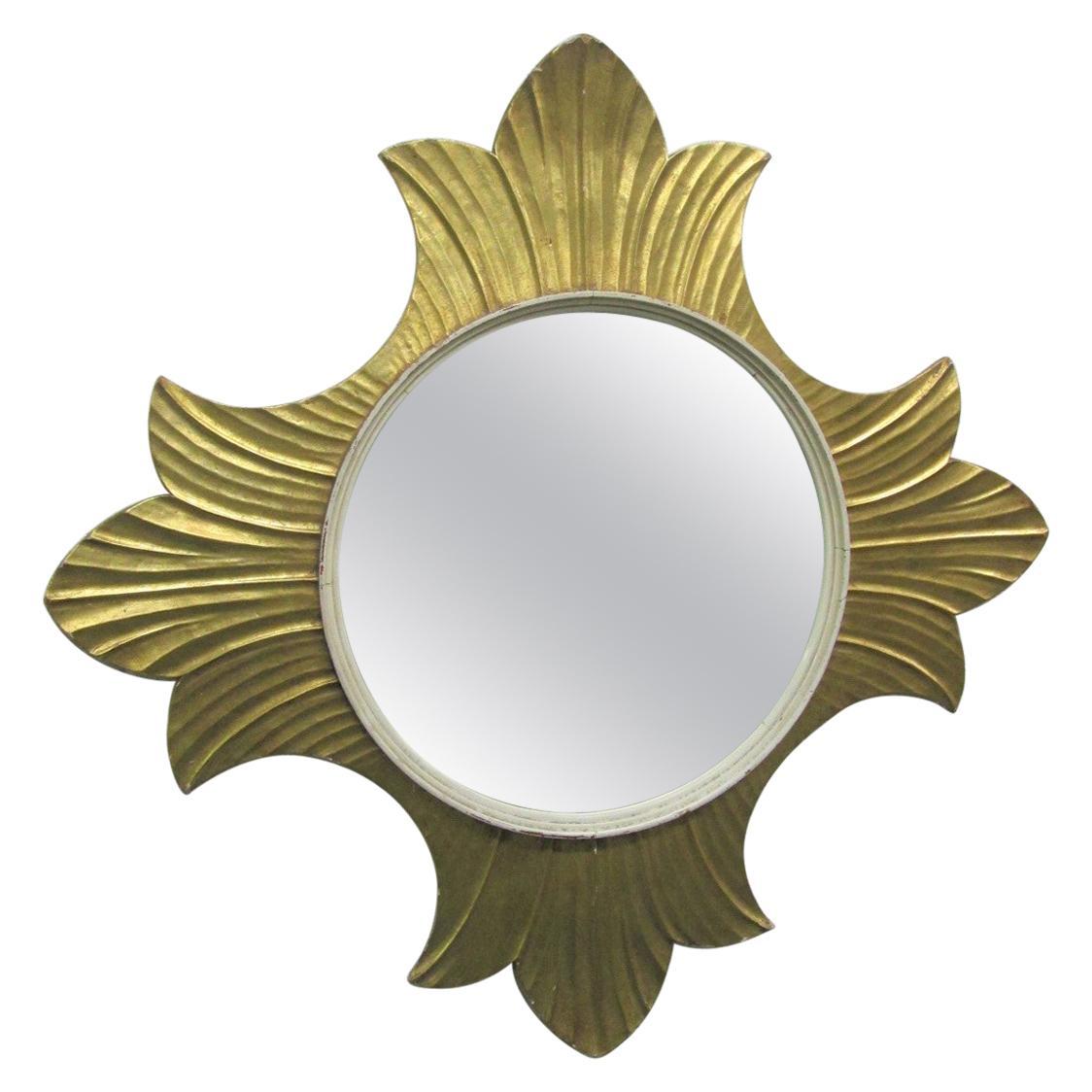 Decorative Gold Leaf Mirror