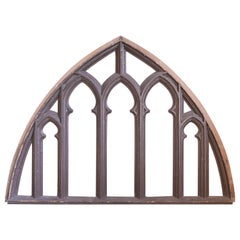 Decorative Gothic Arched Frame with Curvilinear Open Work