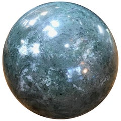 Decorative Green Marble Sphere, Italy